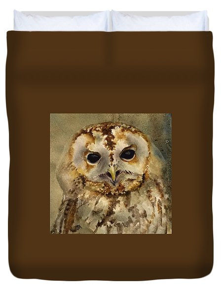 Baby Barred Owl Duvet Cover