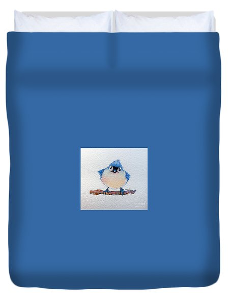 Baby Bluebird Duvet Cover by Marcia Baldwin