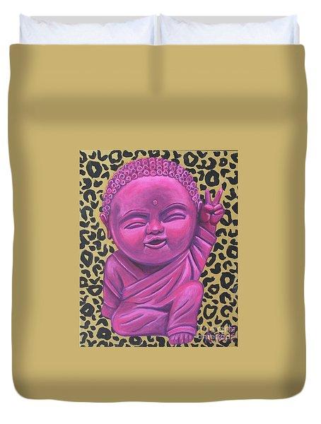 Baby Buddha 2 Duvet Cover by Ashley Price