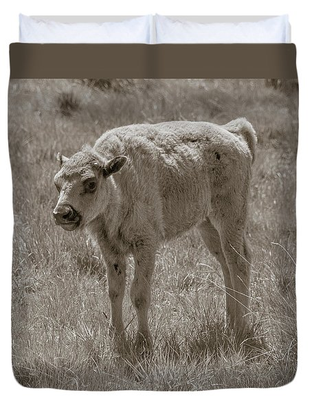 Duvet Cover featuring the photograph Baby Buffalo by Rebecca Margraf