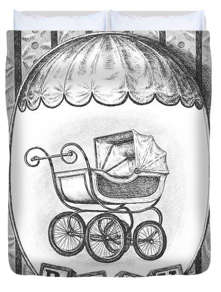 Baby Carriage Duvet Cover by Adam Zebediah Joseph