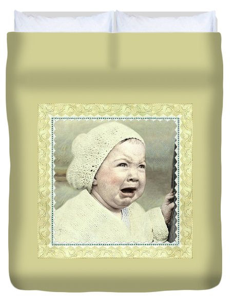 Baby Cries Duvet Cover