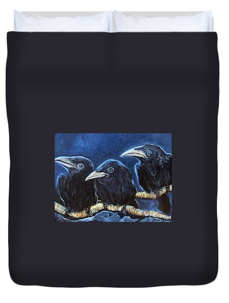 Baby Crows Duvet Cover