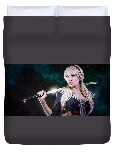 Baby Doll Duvet Cover by Rikk Flohr