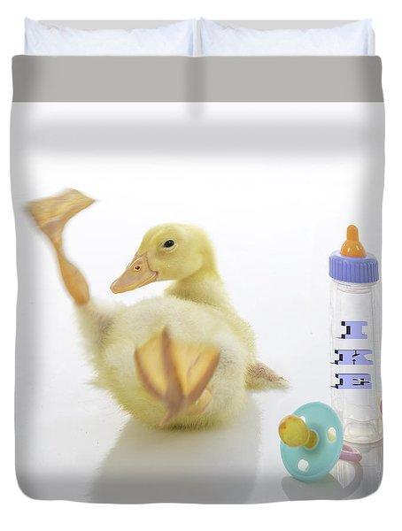 Baby Duck Custom Name Duvet Cover