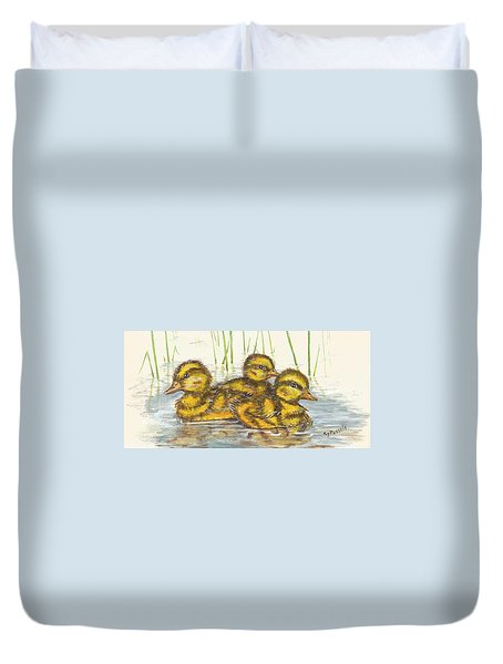 Baby Ducks For Ma Duvet Cover