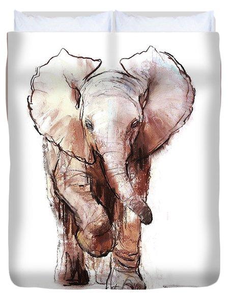 Baby Elephant Two Loisaba Duvet Cover