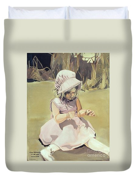 Baby Girl Discovering Duvet Cover