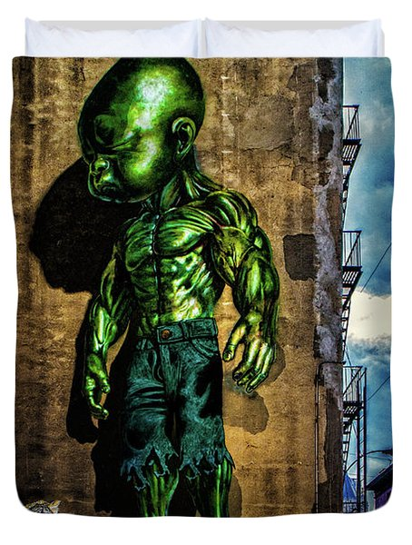Duvet Cover featuring the photograph Baby Hulk by Chris Lord