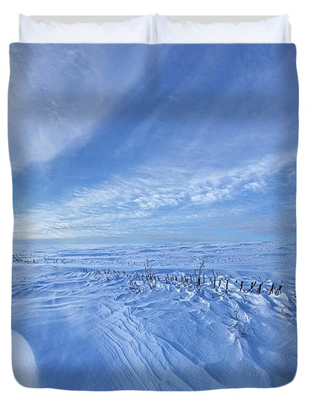Duvet Cover featuring the photograph Baby It's Cold Outside by Phil Koch