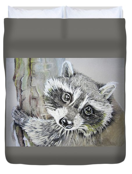 Baby Raccoon Duvet Cover