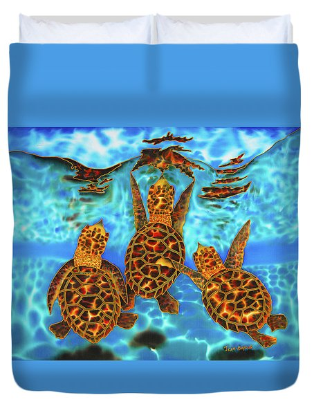 Baby Sea Turtles Duvet Cover
