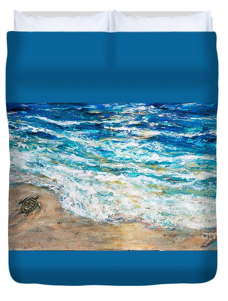 Baby Sea Turtles Iv Duvet Cover