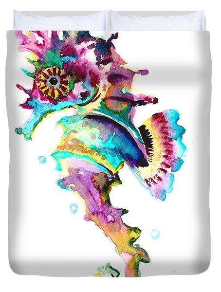 Baby Seahorse Duvet Cover by Suren Nersisyan