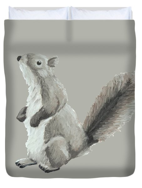 Baby Squirrel Duvet Cover