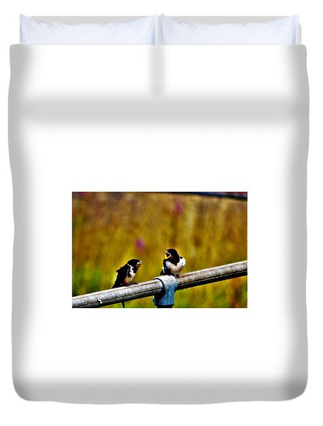 Baby Swallows Duvet Cover