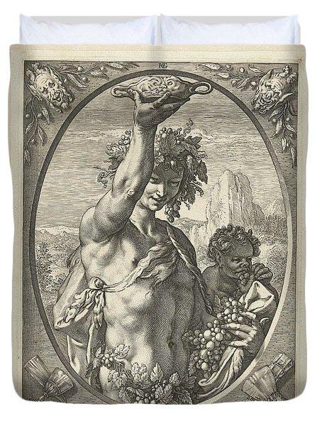 Bacchus God Of Ectasy Duvet Cover