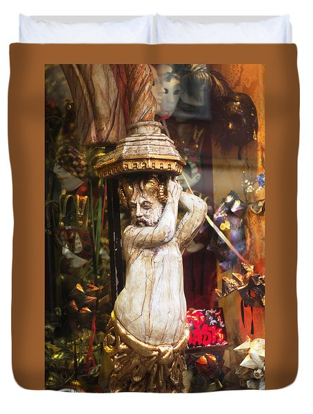 Bacchus In Venice Italy  Duvet Cover by Suzanne Powers