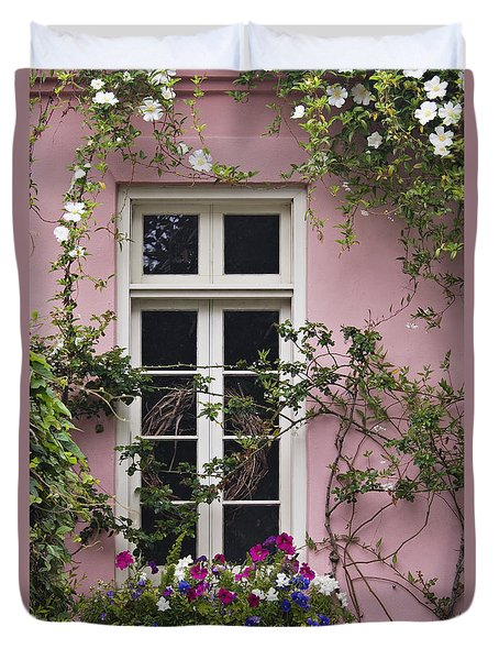 Back Alley Window Box - D001793 Duvet Cover by Daniel Dempster