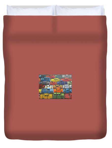 Back And Forth Duvet Cover by Glenn Quist