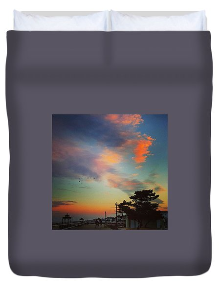 Jersey Shore Colors Duvet Cover