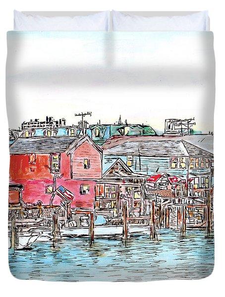 Back Bay, Atlantic City, Nj Duvet Cover