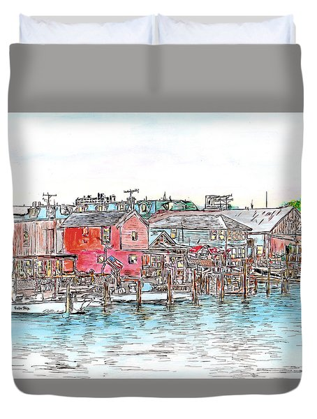 Back Bay, Atlantic City, Nj Duvet Cover