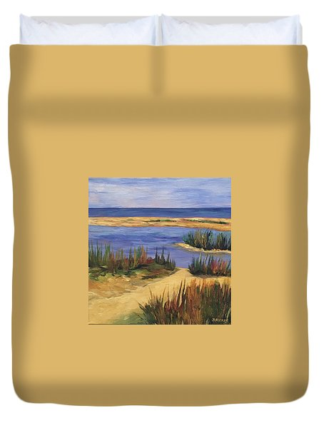 Back Bay Beach Duvet Cover