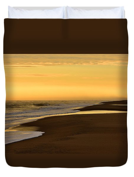 Back Bay Sunrise Duvet Cover
