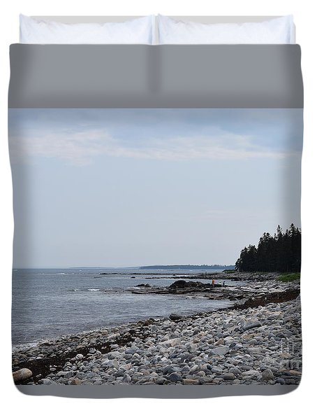 Back Beach Duvet Cover