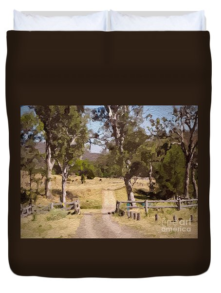 Back Country Farm Track Duvet Cover