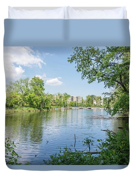 Duvet Cover featuring the photograph Back Creek At Severn House by Charles Kraus