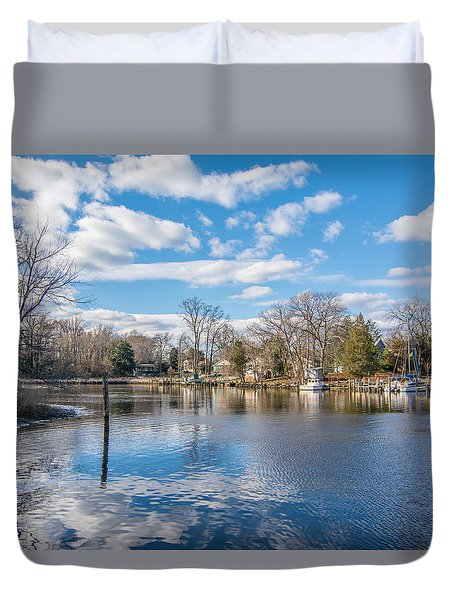 Duvet Cover featuring the photograph Back Creek by Charles Kraus