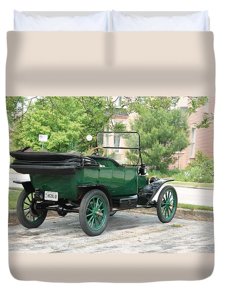 Back In Time Duvet Cover