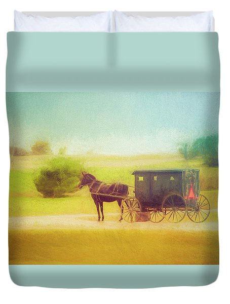 Duvet Cover featuring the photograph Back In Time by Joel Witmeyer