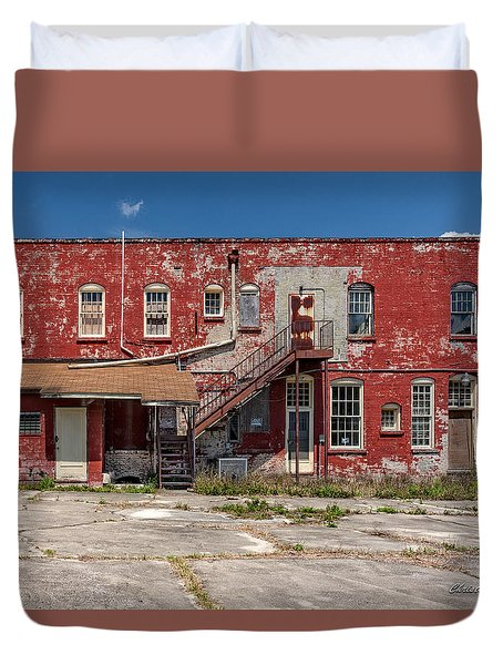 Duvet Cover featuring the photograph Back Lot by Christopher Holmes