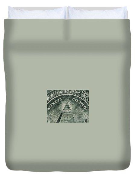 Back Of 1 Dollar Bill Duvet Cover