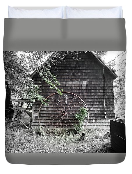 Back Of The Boathouse Duvet Cover