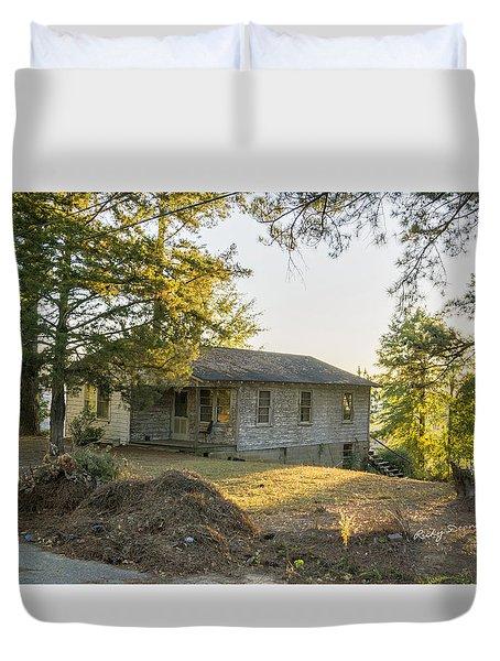 Back Porch Sunset Duvet Cover