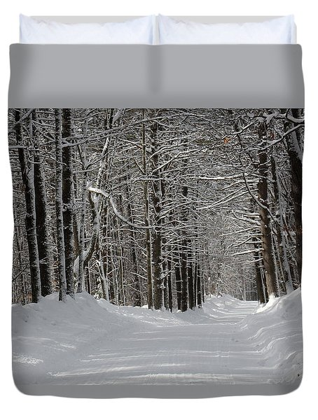 Back Rd Nh Duvet Cover