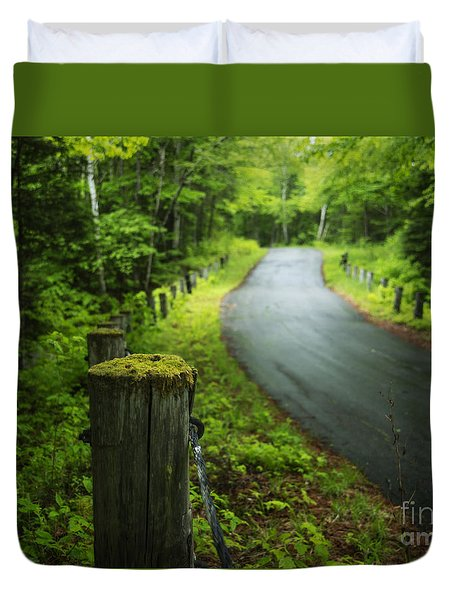 Back Road Duvet Cover by Alana Ranney