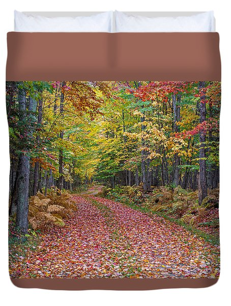 Back Road Color Tour  Duvet Cover