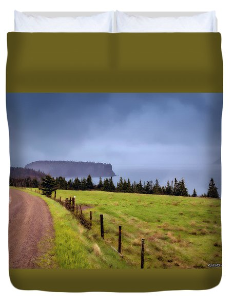 Back Road In Parrsboro Duvet Cover