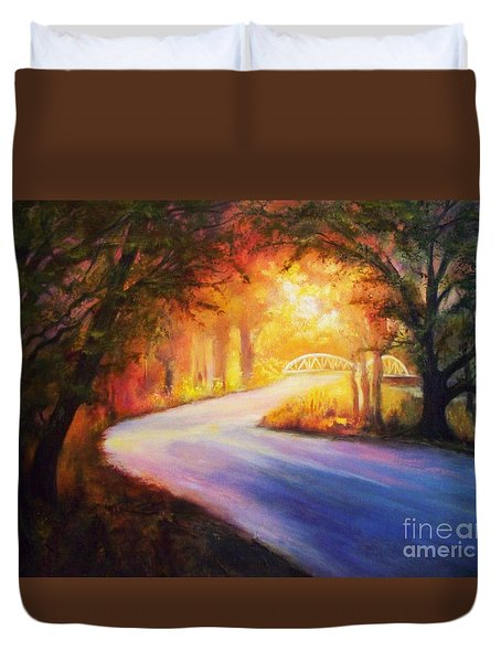 Back Road To Paradise Duvet Cover