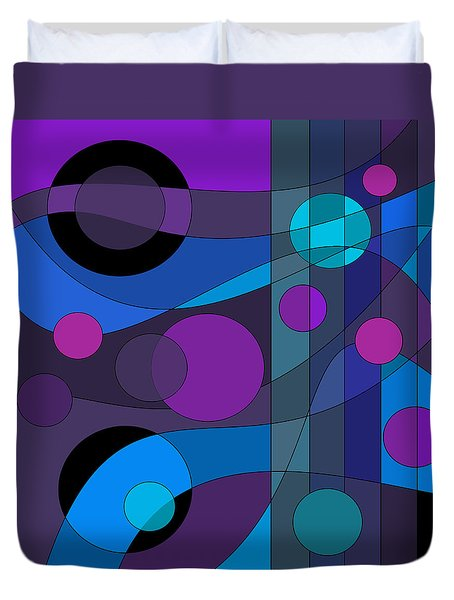 Back Room Blues Duvet Cover by Val Arie