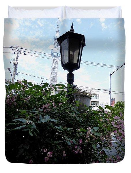 Back Street In Tokyo Duvet Cover