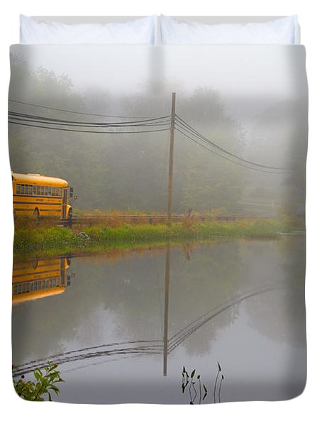 Back To School Duvet Cover by Karol Livote