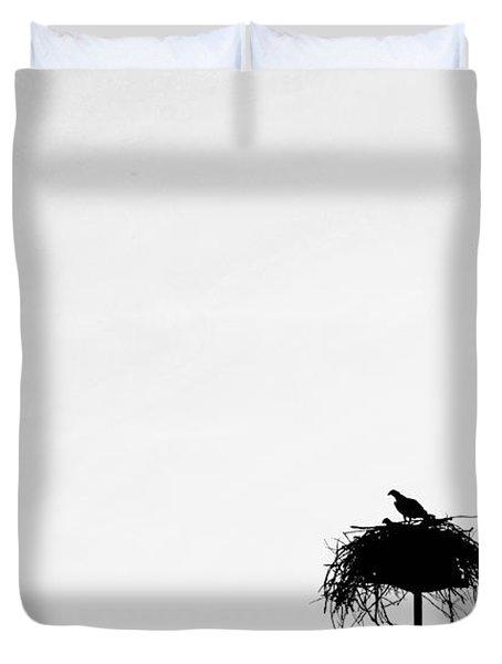 Back To The Nest Duvet Cover