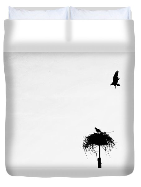 Back To The Nest Duvet Cover