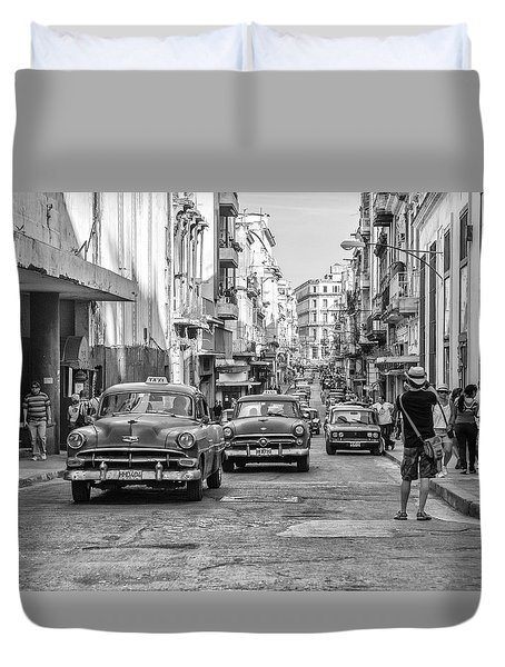 Back To The Past Duvet Cover